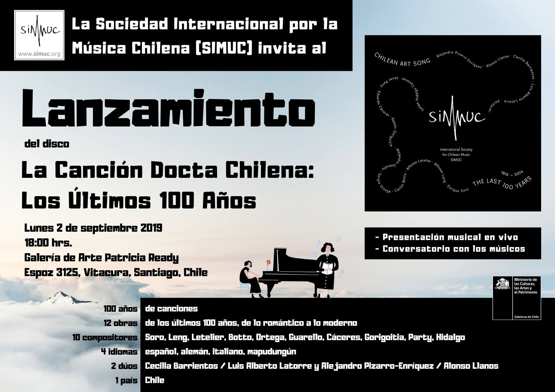 CD Launch in Chile. Chilean Art Song: The Last 100 Years